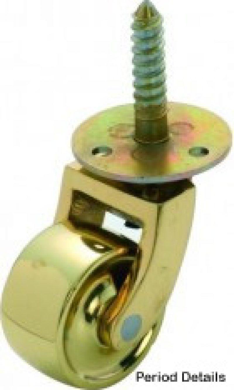 Castor Screw Plate - Brass - T 3520/3521/3522/3523
