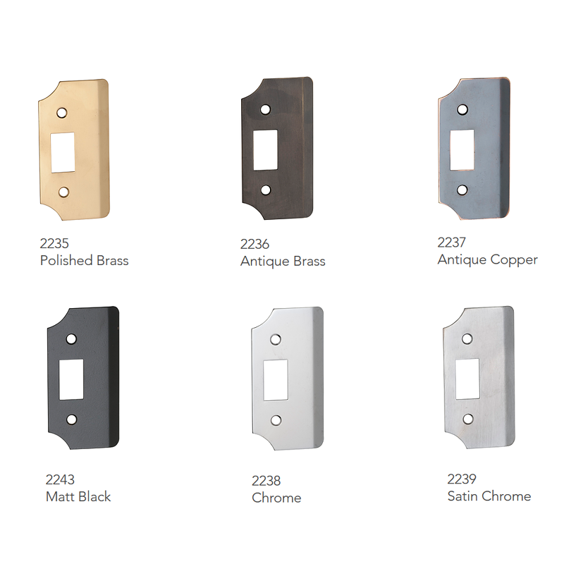 Latches & Striker Plates -  Rebate Extension Plate (6 Finishes) - T 2235 series