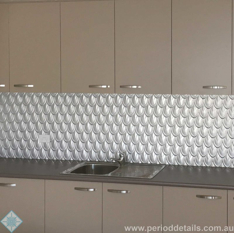 Pressed Metal Kitchen Splashbacks