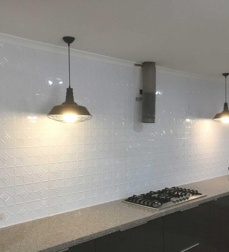 Pressed Metal Kitchen Splashbacks